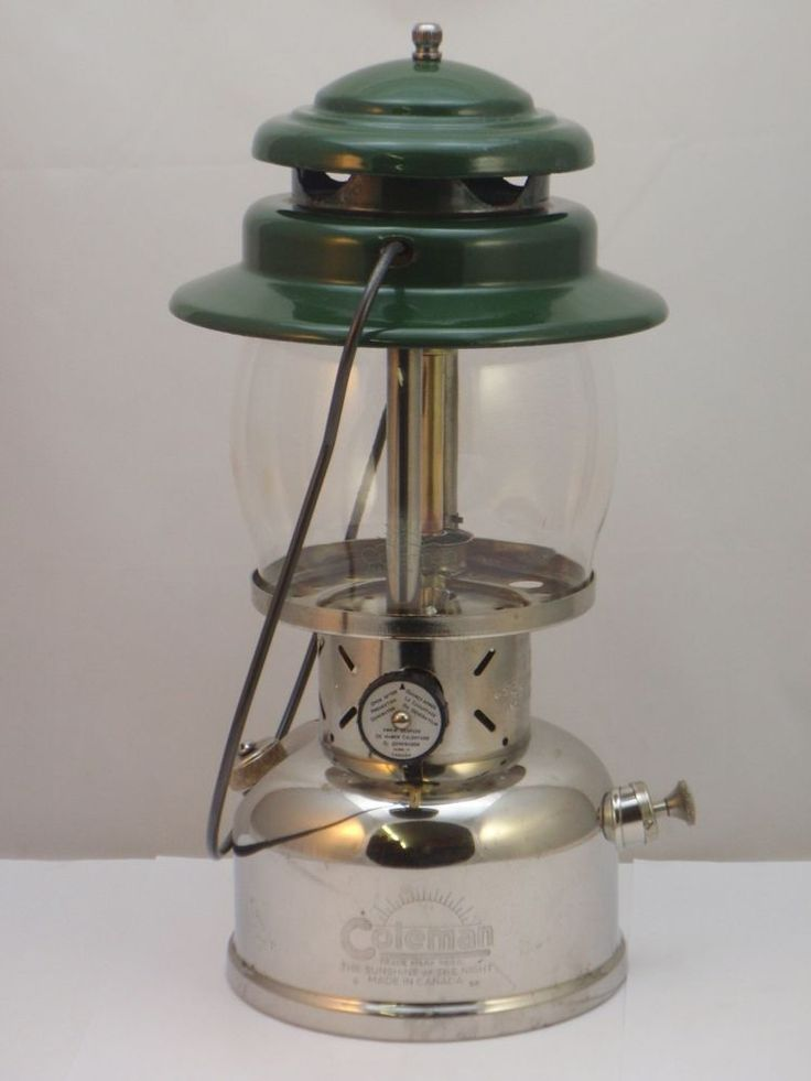 Coleman Canada Model 237 Kerosene Lantern 8/58 makers of camping lamp stove iron #Coleman