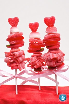 Candy Kabobs - found this kind of treat at Christmas once and always wanted to try it. Perfect for Valentine's Day!