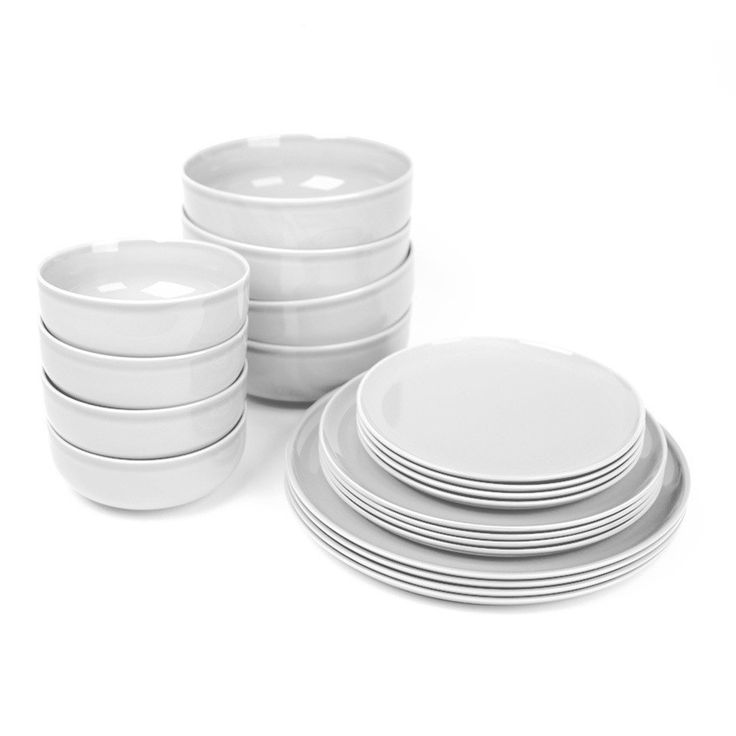 You can never go wrong with a good set of dishes in a neutral color.