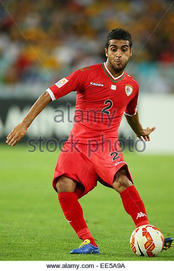 Sydney, Australia. 13th Jan, 2015. Mohammed Al Musalami (OMA) Football/Soccer : AFC Asian Cup Australia 2015 Group - Stock Image