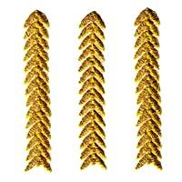 Metallic Gold Chevron Strip Iron or sew on Patch $1.85