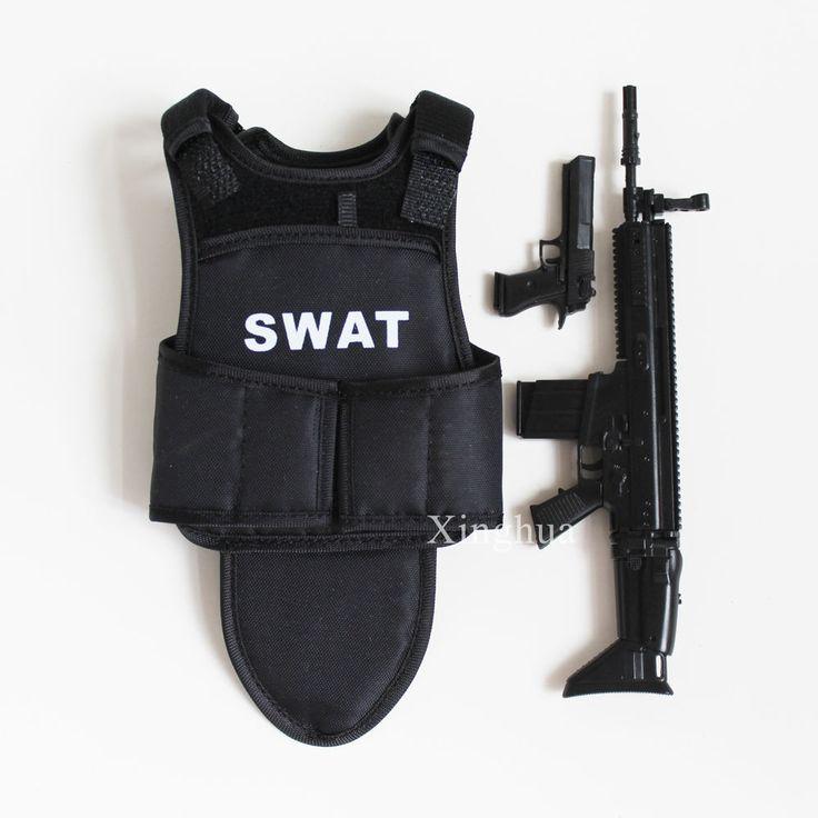 1:6 Scale Swat Bullet Proof Vests SCAR Assault Rifle MP5 SMG Desert Eagle Pistol #Unbranded