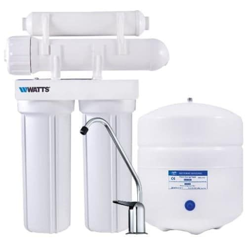 Watts PWRO4 4 Stage Reverse Osmosis System with 3 Gallon Storage Tank, Black carbon