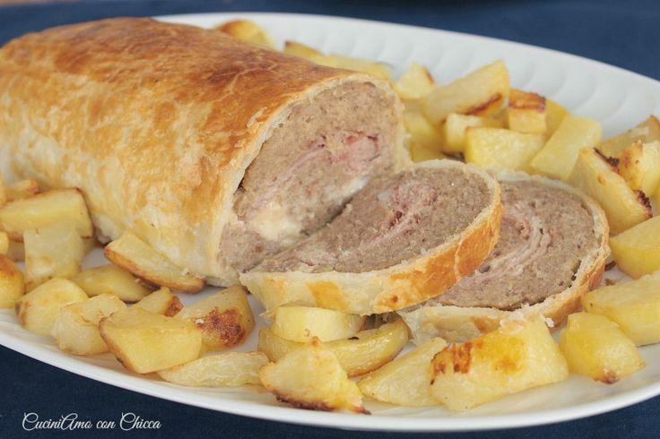 Avete una cena o un pranzo importante e volete fare una bella figura? Beh allora questo polpettone in crosta è quello che fa per voi!!