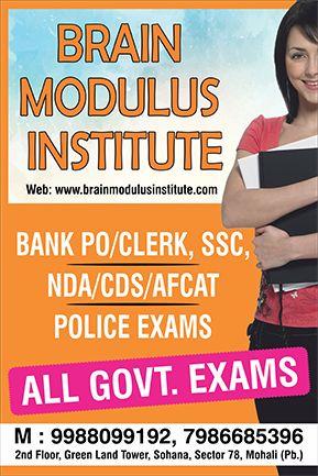 Best BANK PO,CLERK,SSC CGL,NDA,CDS Coaching in mohali