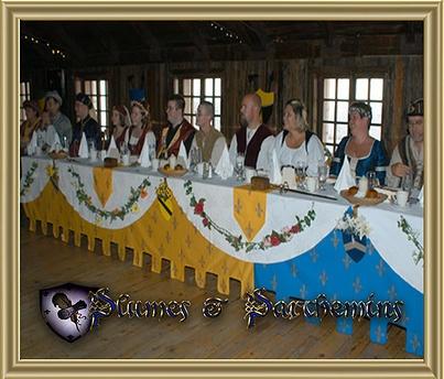 medieval wedding decorations, reception hall