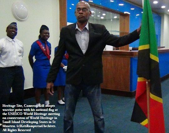 The St Kitts Warior: Curator of Brimstone Hill - the St Kitts World Heritage Site at  FlagParty: Parade of National Flags at UNESCO meeting on World Heritage in Small Island Developing States in Demokrissy: Rocky Road to #CaribbeanHeritageConservation The Bahamas ratifies St Maarten World Heritage for SIDS