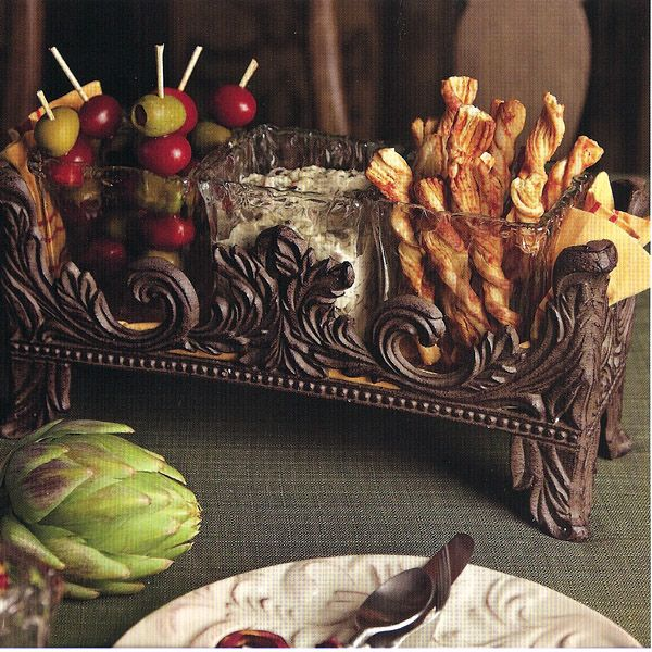 Gracious Goods Scrolled Rectangular Candle Holder (or Silverware Caddy) - IronAccents.com $128 & 71 best GG DINNERWARE COLLECTION images on Pinterest | Dinnerware ...