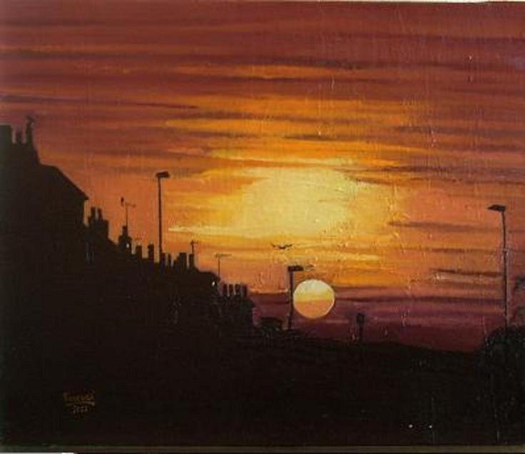Anochecer, óleo sobre tela, 55 x 46.