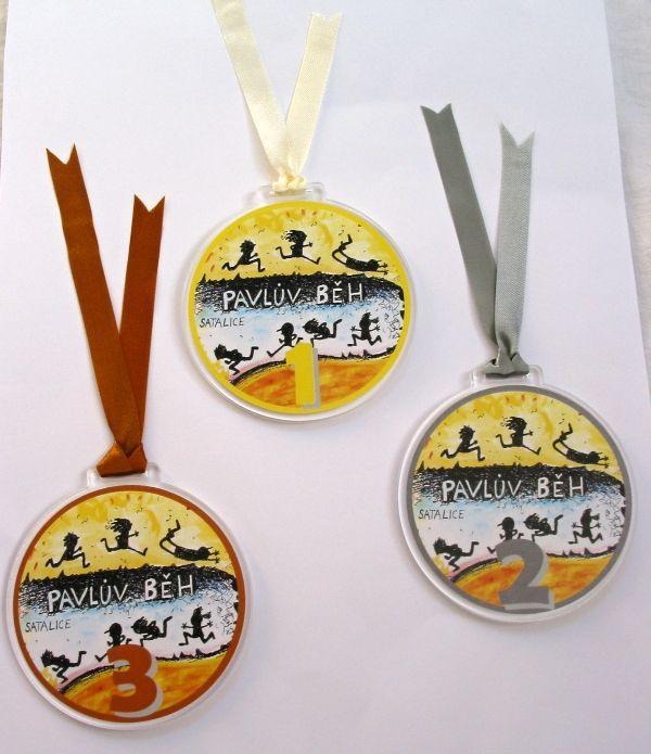 medaile - běh 1, 2, 3 místo - Pavlův běh