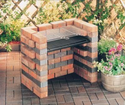 Brick bbq design