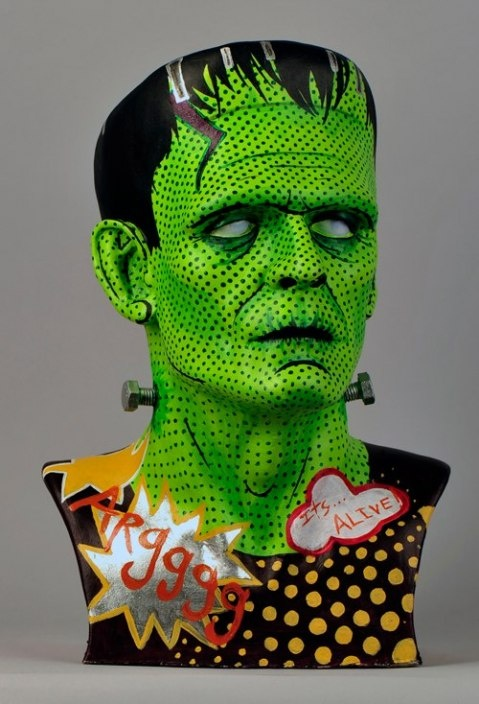 """The """"Its Alive"""" Project celebrates eight decades of the Frankenstein Monsterby presenting 80 re-imagined Life Size Boris Karloff Frankenstein Busts."""