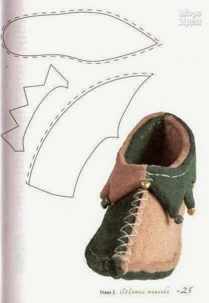 Felt jester slippers