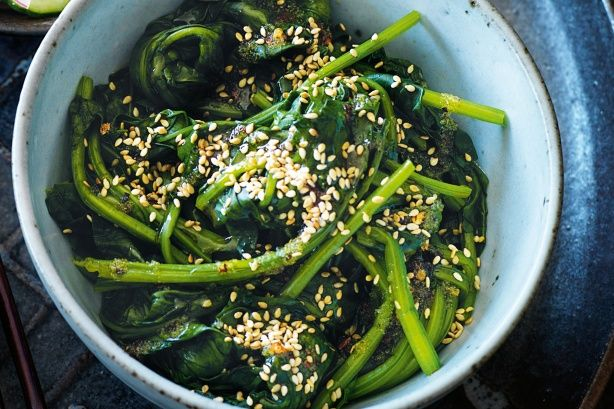 Sesame spinach salad Sesame, garlic and chilli give everyday English ...