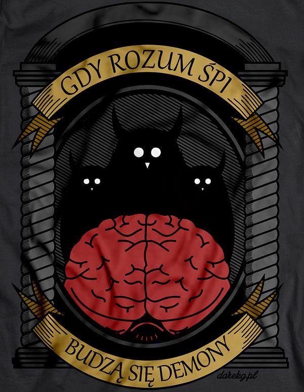 Gdy rozum śpi :) w kolorze. Koszulka dostępna na http://darekgkropkapl.cupsell.pl