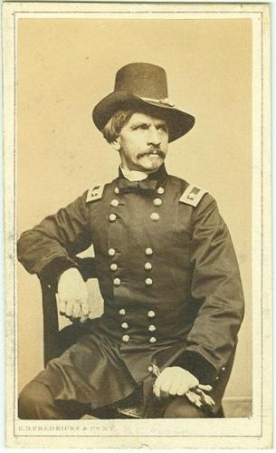 CDV General Nathaniel P. Banks defeated by Stonewall Jackson at the First Battle of Winchester May 1862