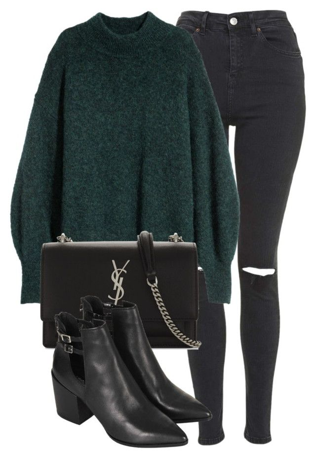 """""""Untitled #7013"""" by laurenmboot ❤ liked on Polyvore featuring Topshop and Yves Saint Laurent"""