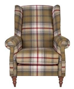 Heart of House Argyll Fabric Chair - Autumn Tartan.