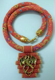 Вязаные бисерные жгуты: Schema Схема для жгута Китайский дракон