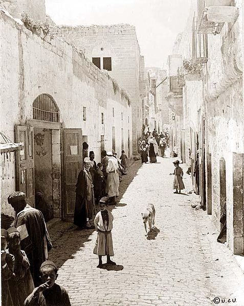 A photograph from Bethlehem in 1880.