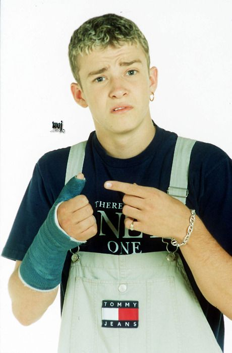 N'Sync's Justin Timberlake + Tommy Hilfiger overalls = Pure Gold