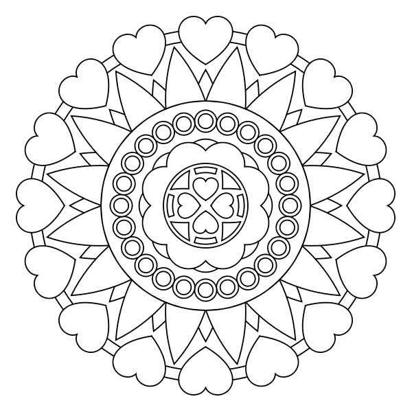 mandala coeur | Mandalas | Pinterest | Mandala coeur ...