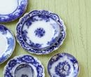 Flow Blue china as seen in At Home in Arkansas