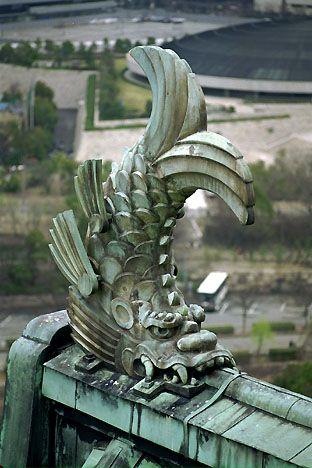 Gargoyle Orca of Osaka Castle, Japan : :Samurai Tour www.kiku.com ( not really ceramics but good inspiration )