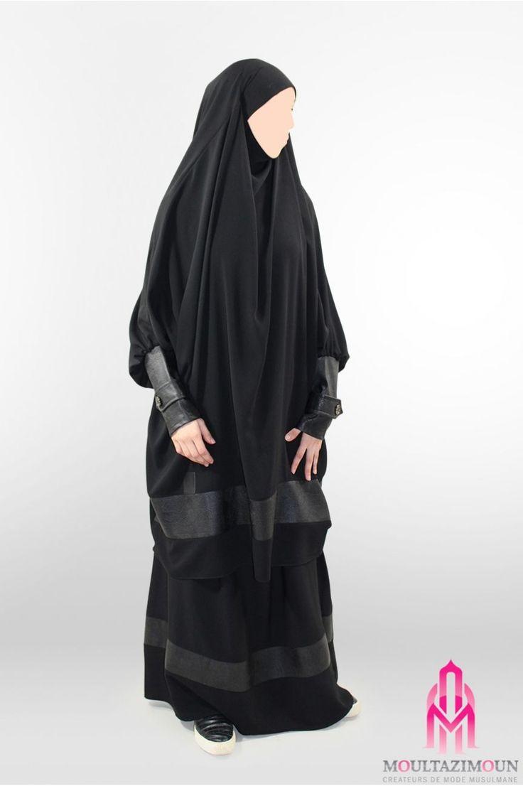 Jilbab All black Cuir