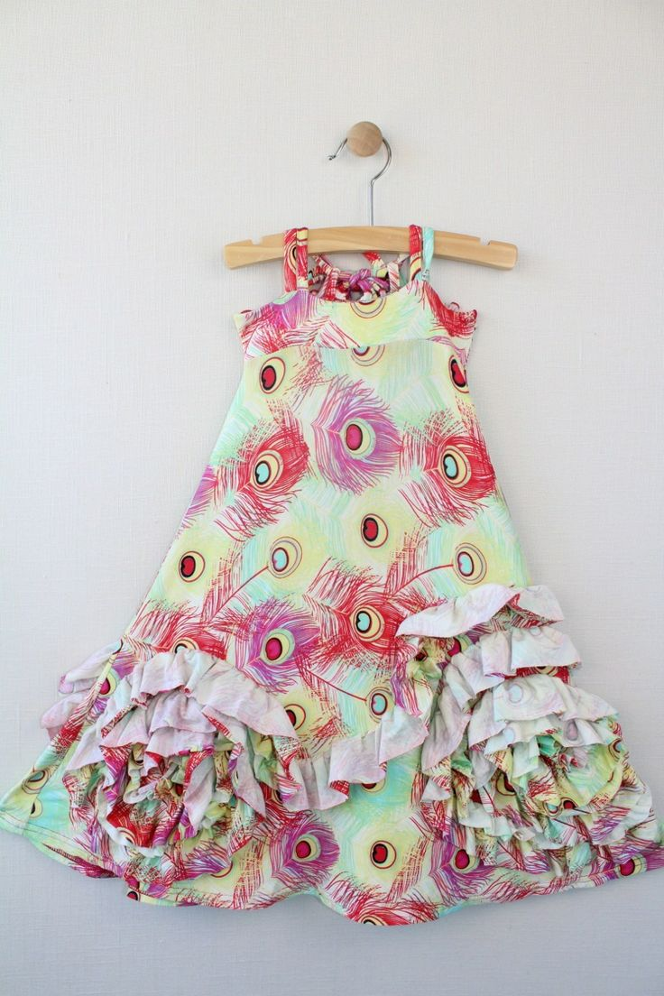 Pixie girl peacock maxi dress