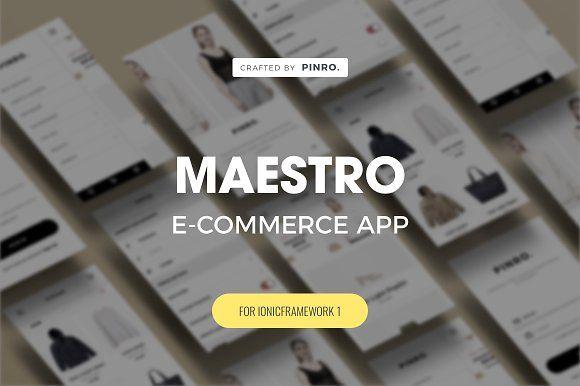 Maestro - Ionic 1 E-commerce Theme by Pinro on @creativemarket