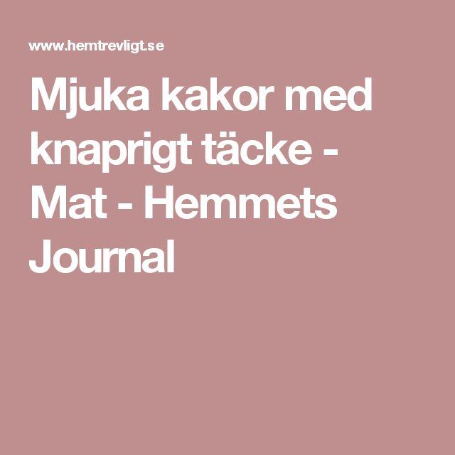 Mjuka kakor med knaprigt täcke - Mat - Hemmets Journal