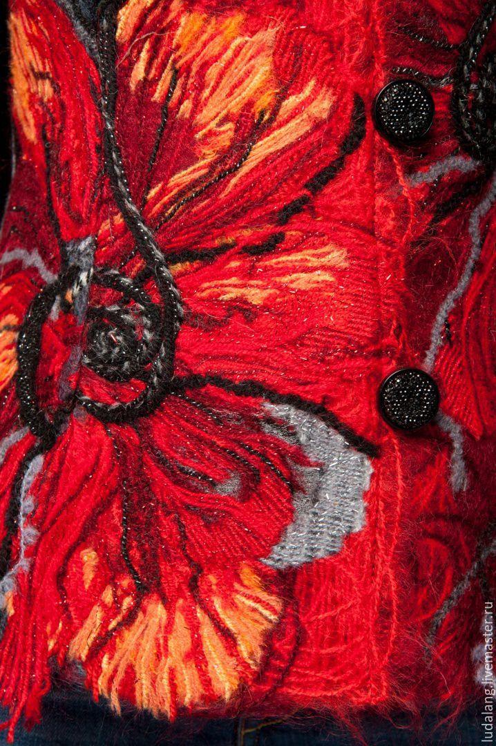 Купить Пиджак красный Аленький цветочек - ярко-красный, красный пиджак, Красный жакет