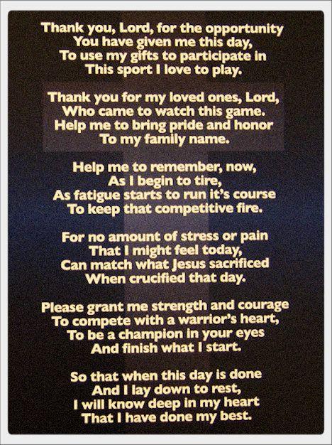 The Athlete's Prayer 2 http://yfrog.com/5crhrdj
