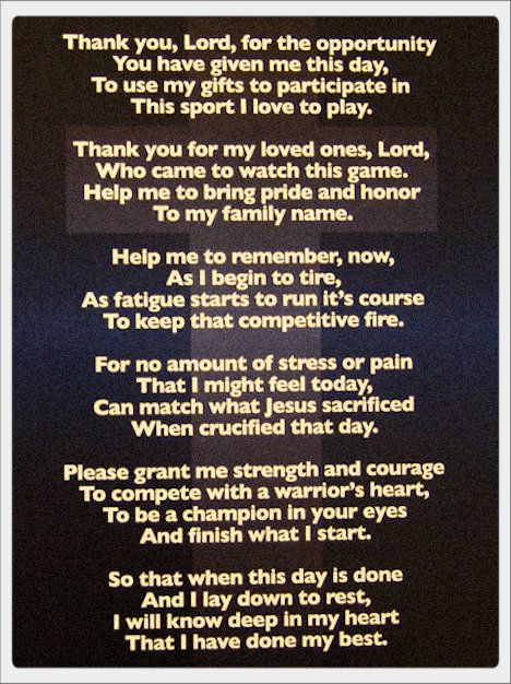 The Athlete's Prayer 2 http://yfrog.com/5crhrdj