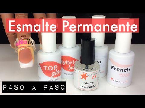 Esmaltado Permanente Paso a Paso   Tutorial con productos de Manicura24 + opinión - YouTube