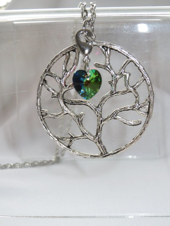Love Charm Necklace  Silver tone Tree of Life  by Thielen on Etsy, $14.95