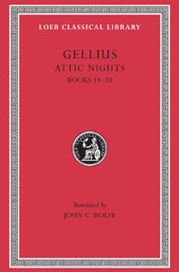 Gellius, Attic Nights, Volume III: Books 14-20  Aulus Gellius (ca. 123–170 CE) is known almost wholly from his Noctes Atticae, 'Attic Nights', so called because it was begun during the nights of an Attic winter. The work collects in twenty books (of Book VIII only the index is extant) interesting notes covering philosophy, history, biography, all sorts of antiquities, points of law, literary criticism,  lexicographic matters, explanations of old words and questions of grammar. LCL 212: