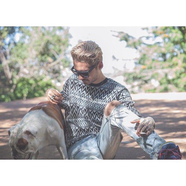 Bill Kaulitz today #pumba #THTV @erikbergamini