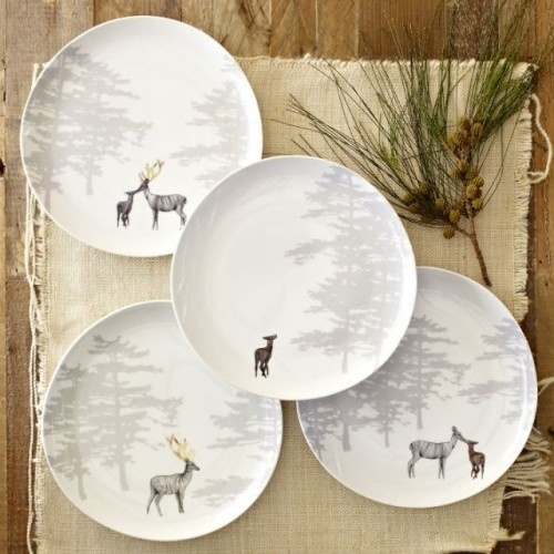 Reindeer plates / West Elm & 34 best Reindeer Dinnerware images on Pinterest | Christmas dishes ...