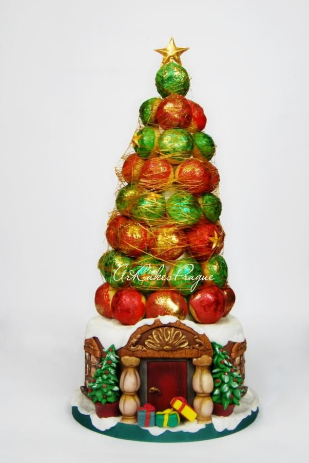 Christmas croquembouche cake - Cake by Art Cakes Prague by Victoria Mkhitaryan
