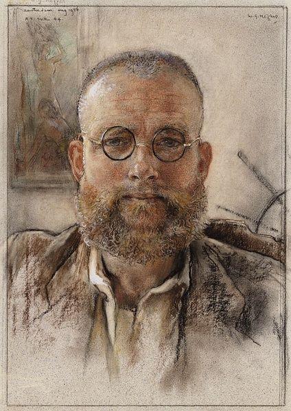 WILLEM GERRARD HOFKER (1902-1981) Self-Portrait (1946)