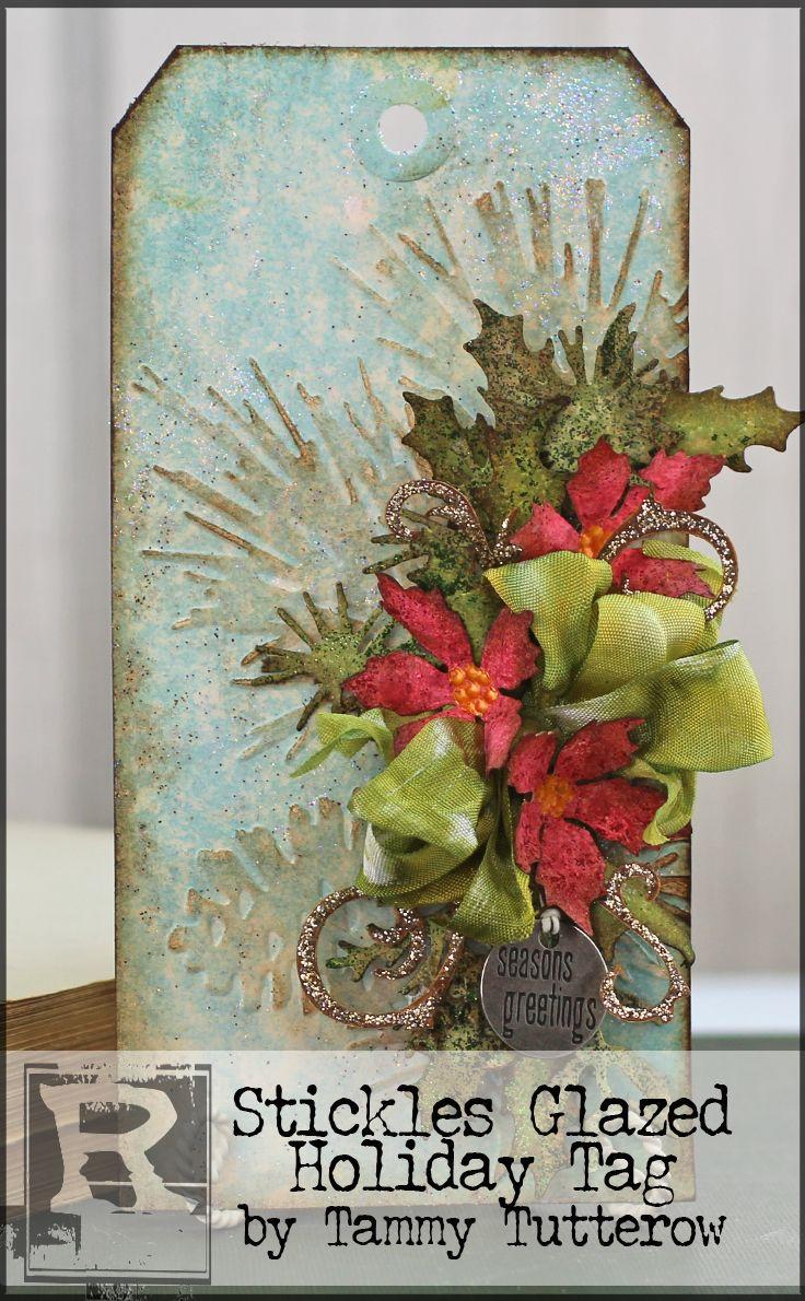 Stickles Glazed Holiday Tag by Tammy Tutterow | www.rangerink.com