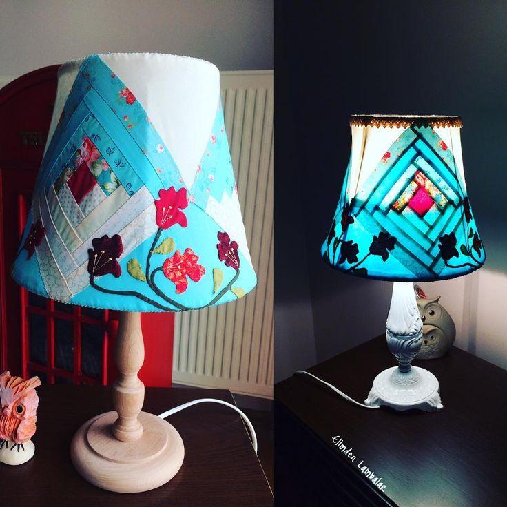Yeni evine uğurladık �� mutlulukla, neşeyle ışıldasın yeni evinde #abajur#lamba#elyapımı#kırkyama#mavi#çiçek#desen#tasarım#lampshade#handmade#patchwork#logcabins#design#homedecor#evdekorasyonu#blue#flowers http://turkrazzi.com/ipost/1516091379558114641/?code=BUKPRO9l-VR