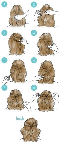 Easy Hairstyles For Short Hair To Do At Home Gorgeous 9 Best Favoritos ❤ Images On Pinterest  Basic Drawing Basics Of