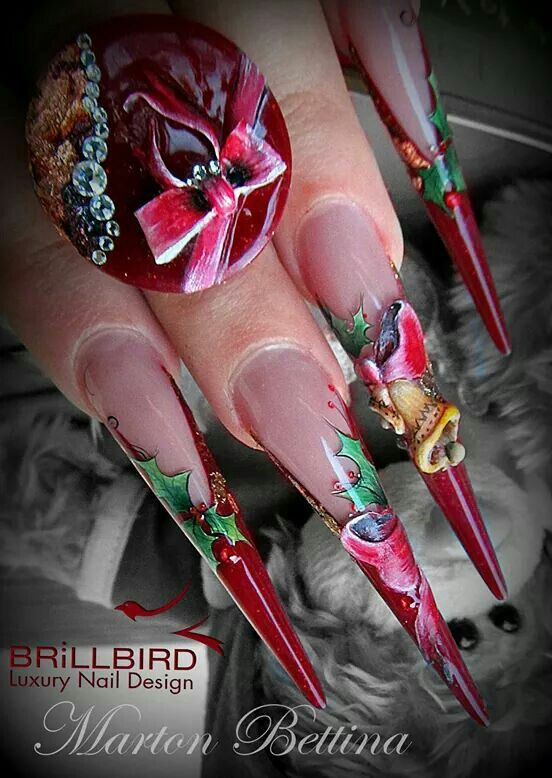 Brillbird Xmas nails ❄