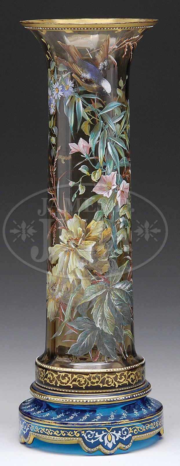 *MOSER ~ Decorated vase                                                                                                                                                                                 More