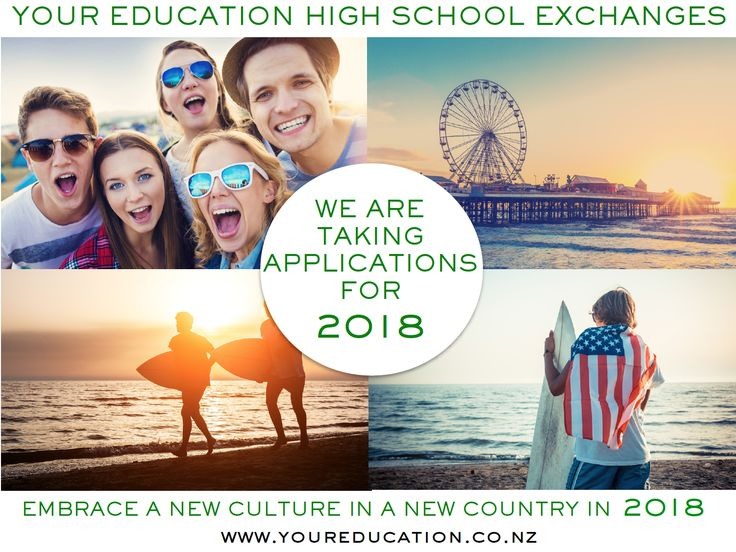 We are taking application for 2018. Have you made your application for a high school exchange with Your Education?