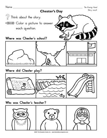 Chester's Day, Lesson Plans - The Mailbox