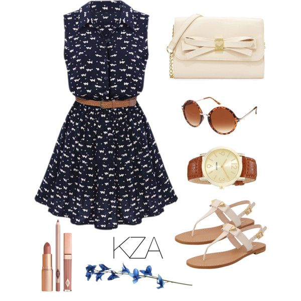 Sunny Navy. Going to the park on sunday with your beloved sounds great! Wear this kind of style if you want to look girly. Check out my polyvore for more ideas!